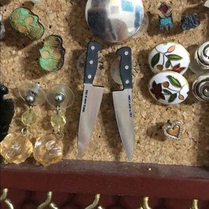 Jewelry - Knife stud earrings.